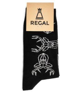 Ciepłe czarne skarpetki z jeleniem Regal Cotton - zdjęcie produktu 2